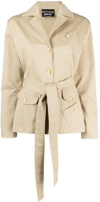 Boutique Moschino Multi-Pocket Belted Jacket