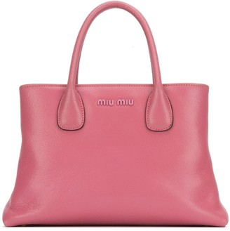 Miu Miu Logo Top Handle Handbag