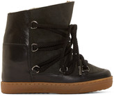 Isabel Marant Black & Olive Shearling Nowles Boots