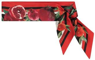 Dolce & Gabbana Exclusive to Mytheresa Pomegranate-print silk scarf