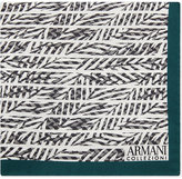 Armani Collezioni Palm Leaf Silk Pocket Square