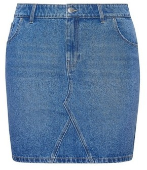 Dorothy Perkins Womens Dp Curve Blue Organic Cotton Denim Mini Skirt, Blue