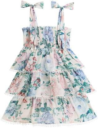 Zimmermann Verity Shirred Tiered Dress