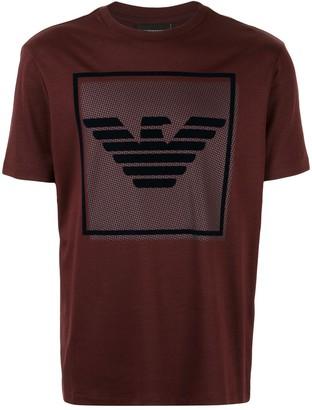 Emporio Armani velvet logo T-shirt