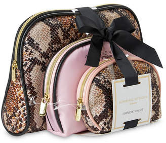 Adrienne Vittadini Set of 3 Dome-Shaped Cosmetic Bags With Bow