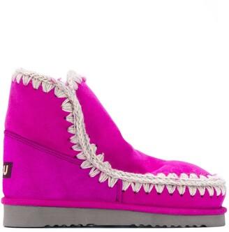 Mou Eskimo crochet-stitch ankle boots