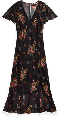 Ralph Lauren Floral Silk Chiffon Dress