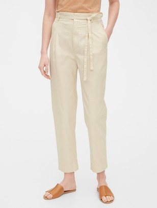 Gap Paperbag-Waist Khaki Pants