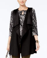 NY Collection Open Front Drape Vest