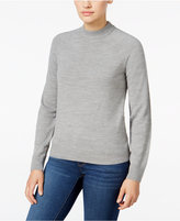 Karen Scott Petite Luxsoft Mock-Neck Sweater, Only at Macy's