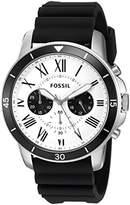 Fossil Mens FS5240 Grant Sport Chronograph Black Silicone Watch