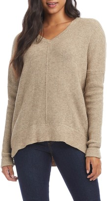 Karen Kane Rib High/Low Sweater