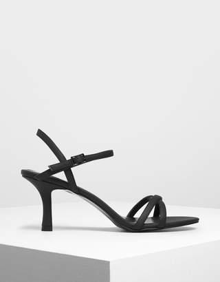 Charles & Keith Criss Cross Blade Heel Sandals