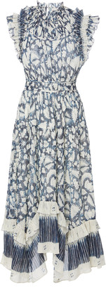 Ulla Johnson Amalia Floral-Print Cotton and Silk-Blend Midi Dress