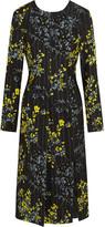 Marni Floral-print wool and silk-blend dress
