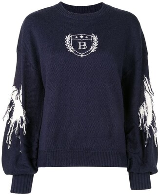 BAPY BY *A BATHING APE® Embroidered Crew Neck Jumper