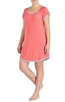 Kensie Plus Dotted Jersey Sleepshirt