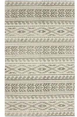 French Connection Demetri Stonewash Printed Cotton Beige Area Rug Rug Size: Rectangle 4' x 6'