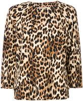 Alberto Biani leopardprint top