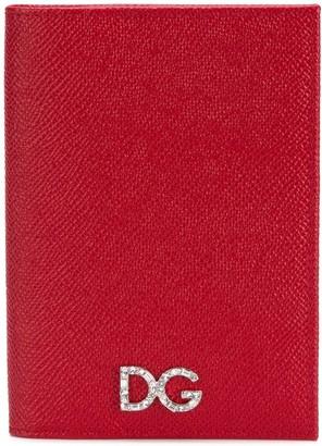 Dolce & Gabbana Embellished Logo Passport Holder
