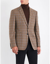 Gieves & Hawkes Checked regular-fit wool and cashmere-blend jacket