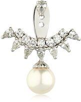 Pearl & Diamonds Ear Jacket Mono Earring