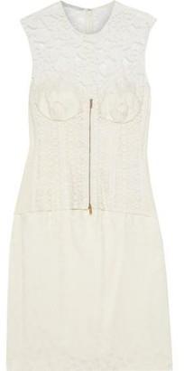 Stella McCartney Ellen Layered Cotton-blend Lace And Satin-jacquard Dress