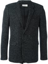 Saint Laurent single breasted blazer - men - Silk/Cotton/Lamb Skin/Wool - 50