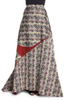 Carolina Herrera High-Waist Ball Skirt, Black/White/Gray