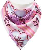 Colorpole Women's (Spring Theme) Square Scarf 100% Polyester Silk Feeling 19x19 Inch