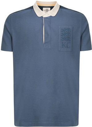 Kent & Curwen Contrast Panel Logo Patch Polo Shirt