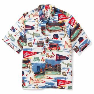 Reyn Spooner Men's St Louis MLB Classic Fit Hawaiian Shirt