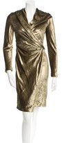 Max Mara Metallic Hooded Dress
