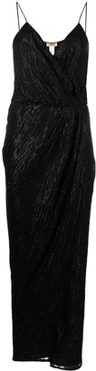 Liu Jo Glitter-Detail Wrap Dress
