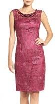 Adrianna Papell Women's Embellished Lace Sheath Dress