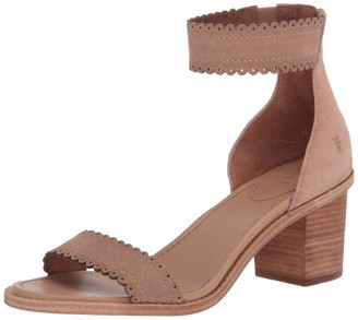Frye Women's Brielle Scallop Back Zip Heeled Sandal