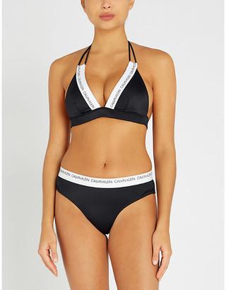 Calvin Klein Logo-print triangle bikini top