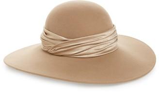 Eugenia Kim Honey Satin Trim Felt Wool Hat