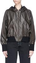 Facetasm Stripe rib knit panel windbreaker jacket