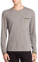 Orlebar Brown Heathered Long Sleeve T-Shirt