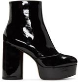 Marc Jacobs Black Patent Amber Platform Boots