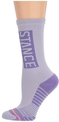 Stance OG Train Crew (Purple) Women's Crew Cut Socks Shoes