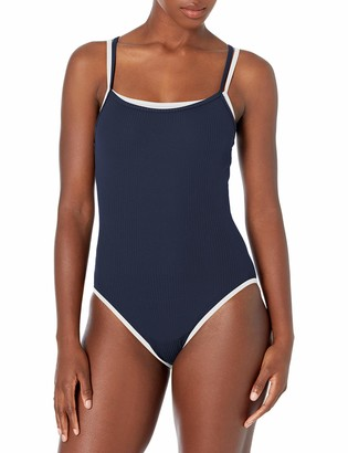 Nautica Women's Ribbed Double Layer Classic One Piece Swimsuit