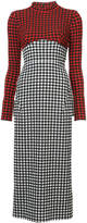 Rachel Comey vichy print fitted dress
