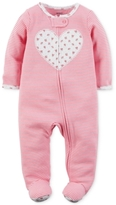 Carter's 1-Pc. Stripes & Heart Footed Coverall, Baby Girls (0-24 months)