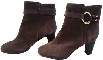 Polo Ralph Lauren Brown Leather Ankle boots