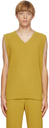 Homme Plissé Issey Miyake Yellow Colorful Pleats Tank Top