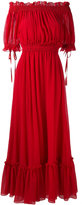 Alexander McQueen off-the-shoulder gown - women - Silk/Cotton - 40