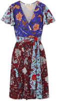 Diane von Furstenberg Flutter Floral-print Silk-jersey Wrap Dress - Blue