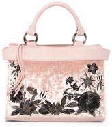 T-Shirt & Jeans Embroidered Velvet Handbag